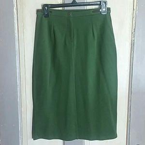 Portfolio by John Bartlett QVC dark green skirt